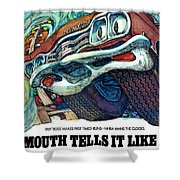 1969 Plymouth Gtx - Plymouth Tells It Like It Is Shower Curtain