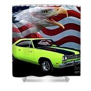 1969 Plymouth Road Runner Tribute Shower Curtain by Peter Piatt
