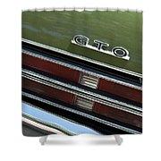 1969 Pontiac Gto Taillight Emblem Shower Curtain