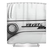 1969 Toyota Fj-40 Land Cruiser Emblem -0441bw Shower Curtain