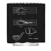 1969 Wood Golf Club Patent Shower Curtain