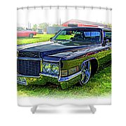 1970 Cadillac Deville - Vignette Shower Curtain