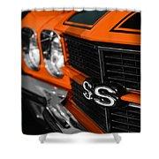 1970 Chevelle Ss396 Ss 396 Orange Shower Curtain
