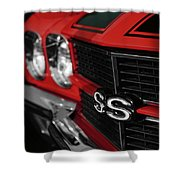 1970 Chevelle Ss396 Ss 396 Red Shower Curtain