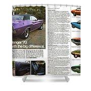 1970 Dodge Challenger Shower Curtain
