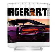 1970 Dodge Charger Rt Shower Curtain