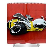1970 Dodge Super Bee Emblem Shower Curtain by Paul Ward