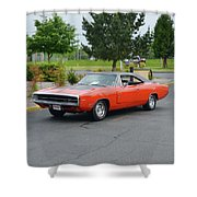 1970 Hemi Charger Rt Asher Shower Curtain
