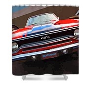 1970 Plymouth Gtx Vectorized Shower Curtain