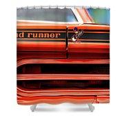 1970 Plymouth Road Runner - Vitamin C Orange Shower Curtain by Gordon Dean II