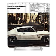 1970 Pontiac Gto The Judge  Shower Curtain