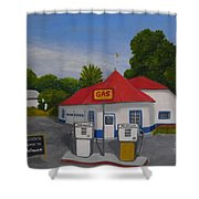 1970s Gas Station Shower Curtain