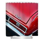 1971 Chevy Nova - Red Shower Curtain