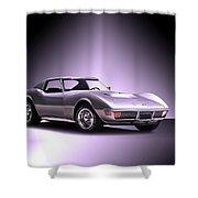1971 Corvette Stingray 427 Zr1 II Shower Curtain