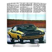 1971 Dodge Challenger T/a Shower Curtain