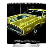 1971 Dodge Charger Superbee - Electric Shower Curtain