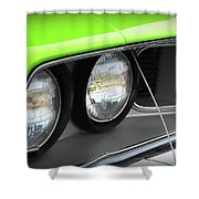 1971 Plymouth Barracuda Cuda Sublime Green Shower Curtain