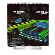 1971 Plymouth Duster 340 And Twister Shower Curtain
