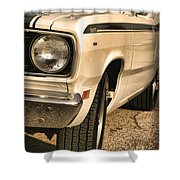 1971 Plymouth Duster 340 Four Barrel Shower Curtain