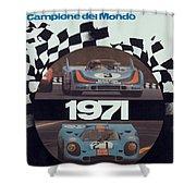 1971 Porsche World Champion Poster Shower Curtain