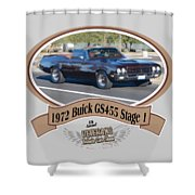 1972 Buick Gs455 Stage 1 Lundbom1972 Buick Gs455 Stage 1 Lundbom Shower Curtain