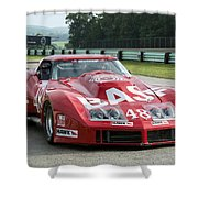 1972 Chevy Corvette At Road America Shower Curtain