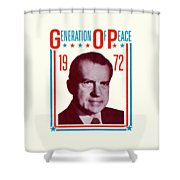 1972 Nixon Presidential Campaign Shower Curtain