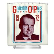 1972 Nixon Presidential Campaign Shower Curtain