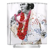 1973 Aloha Bald Headed Eagle Suit Shower Curtain
