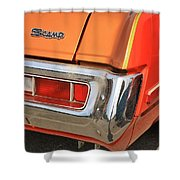 1973 Plymouth Scamp Tail Lights And Logo Shower Curtain