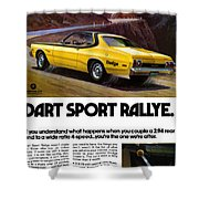 1974 Dodge Dart Sport Rallye Shower Curtain