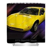 1974 Maserati Merak Shower Curtain