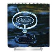 1975 Oldsmobile Hood Ornament Shower Curtain