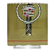 1976 Cadillac Eldorado Convertible Hood Ornament Shower Curtain
