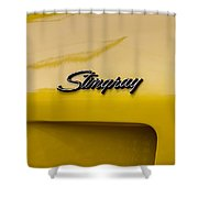 1976 Corvette Stingray Side Emblem Shower Curtain