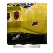 1976 Corvette Stingray Taillights Shower Curtain