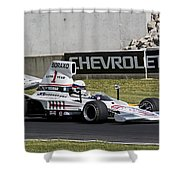 1976 Lola T332c F5000 At Road America Shower Curtain