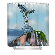 1976 Rolls  Royce Saloon Hood Ornament Shower Curtain