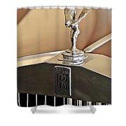 1978 Rolls-royce Hood Ornamaent Shower Curtain