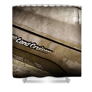1978 Toyota Land Cruiser Fj40 Side Emblem -0543ac Shower Curtain