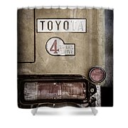 1978 Toyota Land Cruiser Fj40 Taillight Emblem -1191ac Shower Curtain