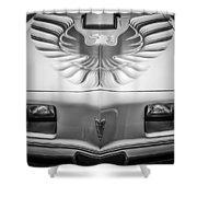 1979 Pontiac Trans Am Hood Firebird -0812bw Shower Curtain