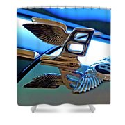 1980 Bentley Hood Ornament Shower Curtain