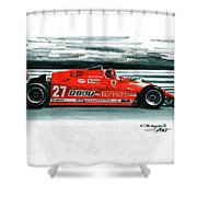 1981  Ferrari 126cx Shower Curtain