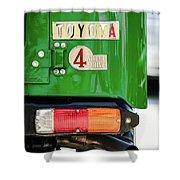 1982 Toyota Fj43 Land Cruiser Tail Light Emblem -0483g Shower Curtain