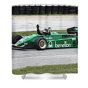 1983 Tyrrell 011 F1 At Road America Shower Curtain