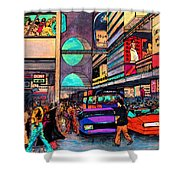 1984 Vision Of Times Square 2015 Shower Curtain