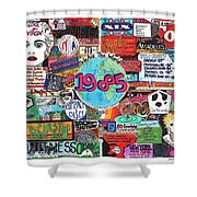 1985 Shower Curtain by David Sutter