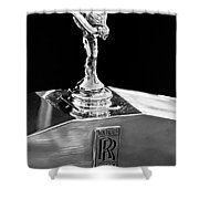 1986 Rolls-royce Hood Ornament 2 Shower Curtain