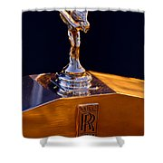 1986 Rolls-royce Hood Ornament Shower Curtain